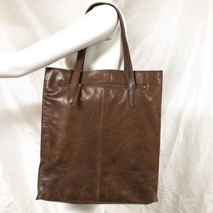 J.CREW Large Brown Classic Leather Tote